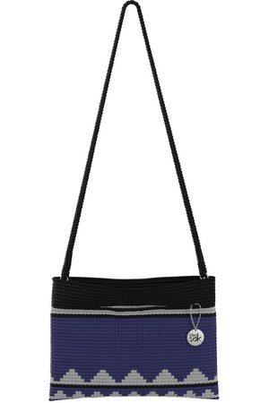 The Sak Custom Recycled Ocean Crochet Convertible Crossbody Moody Belize Stripe Bag