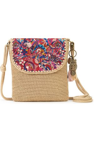 Sakroots Sayulita Printed Crochet Flap Crossbody Bag