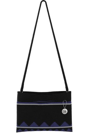 The Sak Custom Recycled Ocean Crochet Convertible Crossbody Moody Black Belize Stripe Bag
