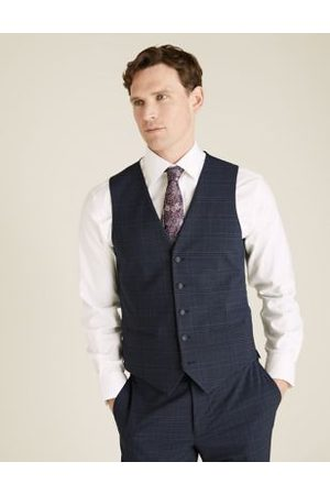 Marks & Spencer Brown Check Waistcoat