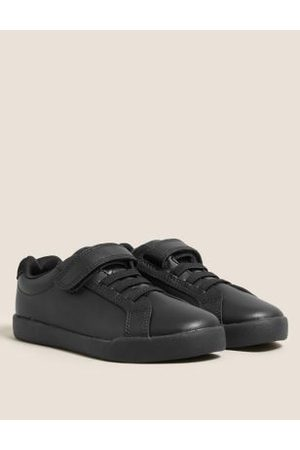 Kids' Leather Riptape School Shoes (8 Small-1 Large)