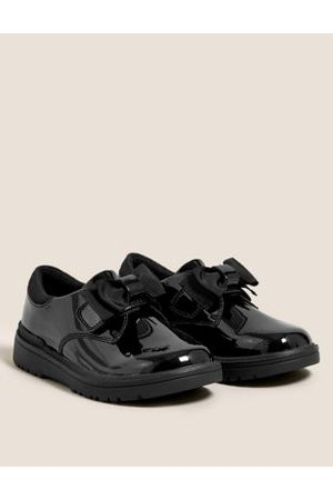 Kids' Leather Freshfeet™ Bow School Shoes (8 Small