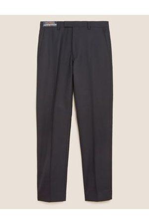 SAVILE ROW Regular Fit Pure Wool Trousers