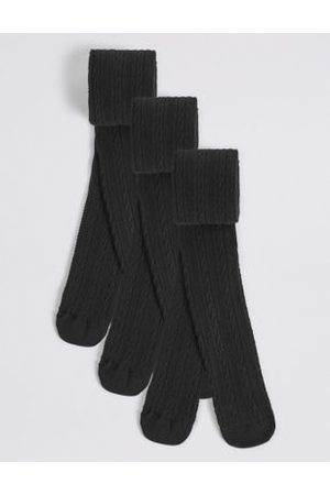 3pk of Cable Knit Tights