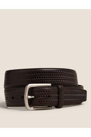 Marks & Spencer Leather Textured Belt