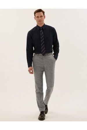 Marks & Spencer Tailored Fit Italian Wool Trousers