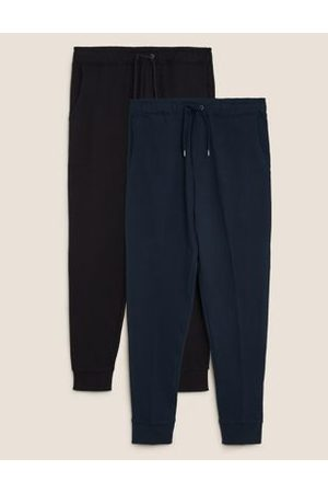 Marks & Spencer 2 Pack Cuffed Pure Cotton Joggers