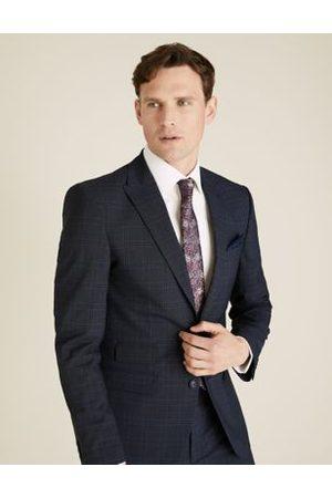 Marks & Spencer Brown Slim Fit Check Jacket