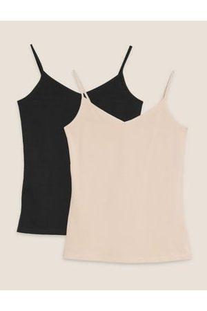 Marks & Spencer 2pk Cotton Strappy Vests