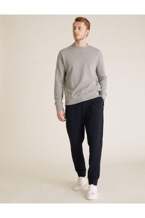 Marks & Spencer Textured Pure Cotton Zip Pocket Joggers