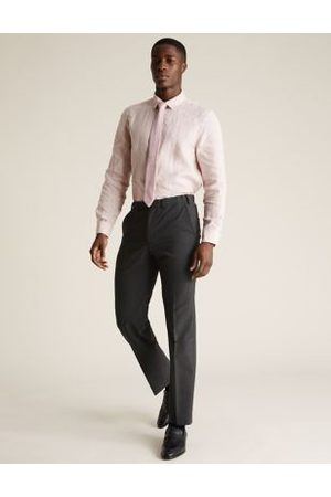 Marks & Spencer The Ultimate Charcoal Regular Fit Trousers, Charcoal