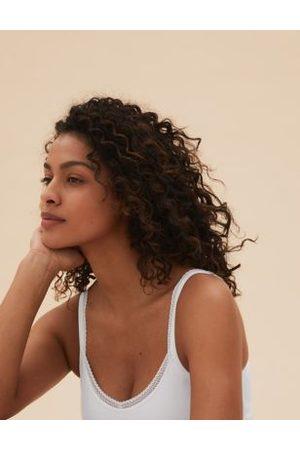 Marks & Spencer Lace Trim Vest with Secret Support™