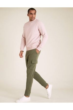 Marks & Spencer Cuffed Pure Cotton Cargo Joggers