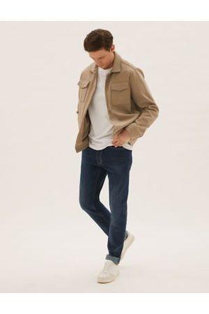 Marks & Spencer Slim Fit Vintage Wash Stretch Jeans