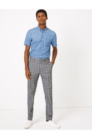 Marks & Spencer Skinny Fit Checked Stretch Trousers