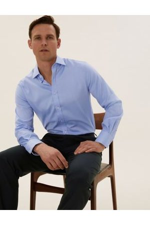 Marks & Spencer Tailored Fit Pure Cotton Shirt