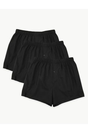 Marks & Spencer 3pk Pure Cotton Woven Boxers
