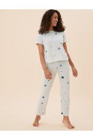 Marks & Spencer Star Print Short Sleeve Pyjama Set