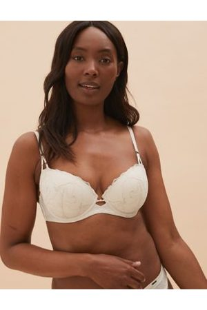 Autograph Graphic Floral Lace Padded Balcony Bra A-E