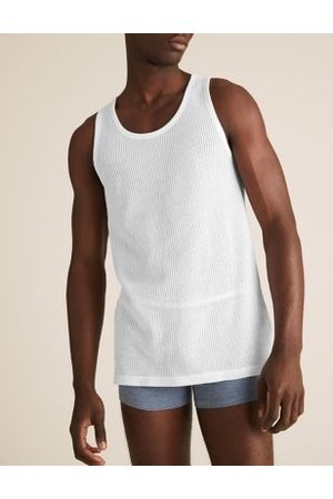 Marks & Spencer 3pk Pure Cotton Classic Sleeveless Vests