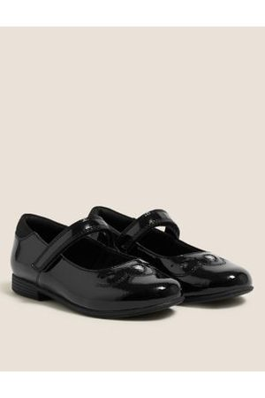 Kids' Leather Riptape School Shoes (8 Small