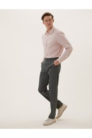 Marks & Spencer Slim Fit Flat Front Trousers