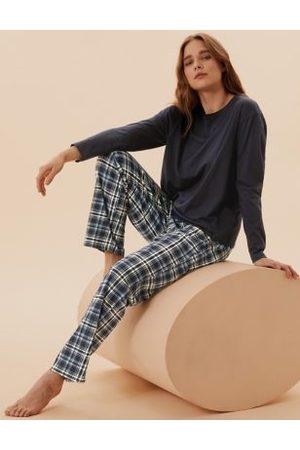 Marks & Spencer Pure Cotton Checked Pyjama Set