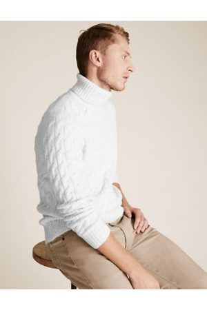 Marks & Spencer Chunky Cable Roll Neck Jumper