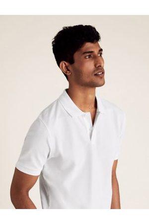 Marks & Spencer Slim Fit Pure Cotton Pique Polo Shirt