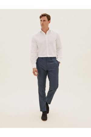 Marks & Spencer Plan A Tailored Fit Check Trousers