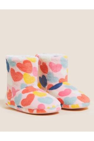 Kids' Heart Slipper Boots (5 Small