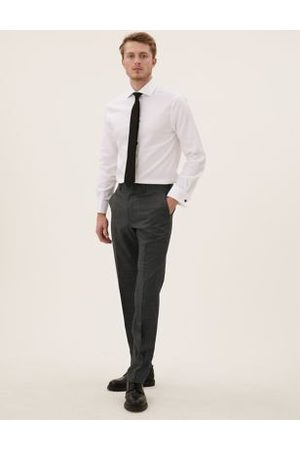 Marks & Spencer Tailored Wool Puppytooth Trousers
