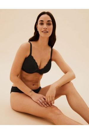 Marks & Spencer Lace Padded Plunge Underwired Bra A-E