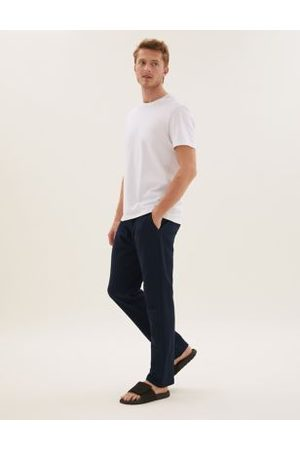 Marks & Spencer Pure Cotton Straight Leg Joggers