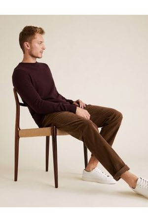 Marks & Spencer Regular Fit Corduroy Stretch Trousers