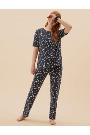 Marks & Spencer Viscose Animal Print Pyjama Set