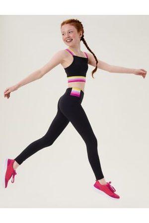 GOODMOVE Striped Sports Leggings (6-16 Yrs)