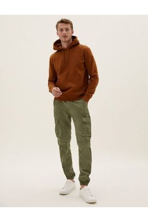 Marks & Spencer Slim Fit Cuffed Cargo Trousers