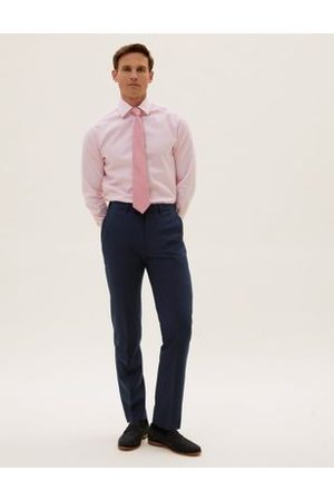Marks & Spencer The Ultimate Navy Slim Fit Trousers, Navy