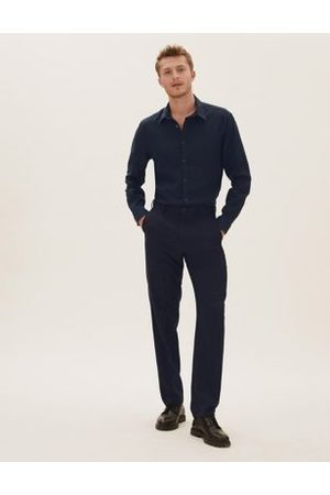 Marks & Spencer Regular Fit Flat Front Trousers