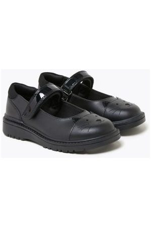 Kids' Leather Mary Jane Cat School Shoes (8 Small