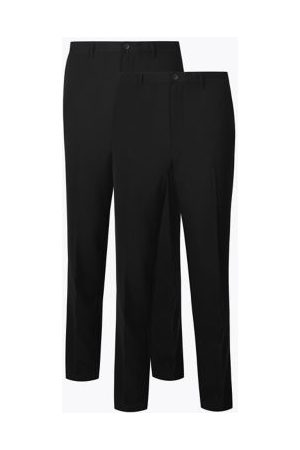Marks & Spencer 2 Pack Slim Fit Flat Front Trousers