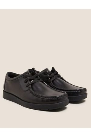 Kids' Leather Lace School Shoes (13 Small