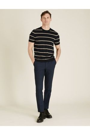 Marks & Spencer The Ultimate Navy Tailored Fit Trousers, Navy