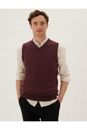 Marks & Spencer Pure Lambswool Sleeveless V-Neck Jumper