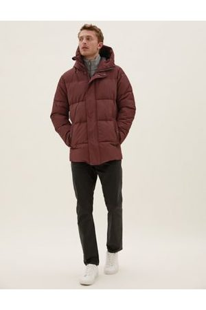 Marks & Spencer Men Puffer Jackets - Hooded Puffer Jacket with Thermowarmth™