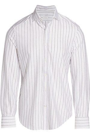 Brunello Cucinelli Striped Jersey Dress Shirt