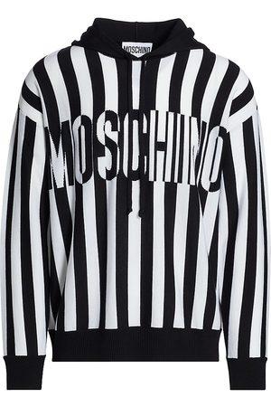 Moschino Striped Knit Hoodie