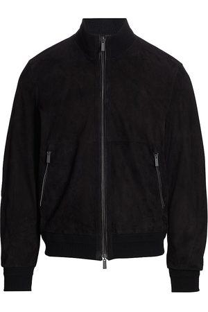 Ermenegildo Zegna Perforated Suede Zip-Up Jacket