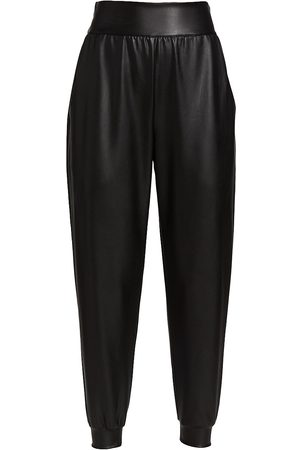 Susana Monaco Women Leather Pants - Faux Leather Jogger Pants